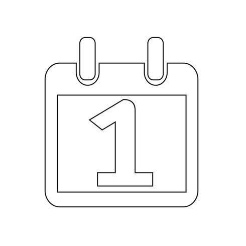 Calendrier icône illustration vectorielle vecteur