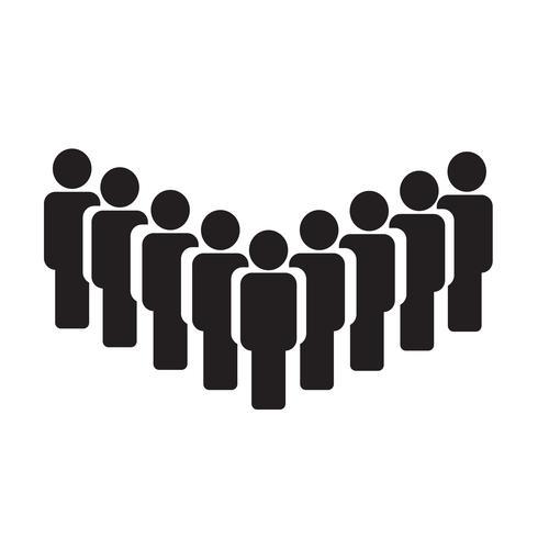 La gente firma icono ilustración vectorial