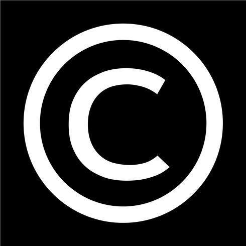 icono de símbolo de copyright ilustración vectorial