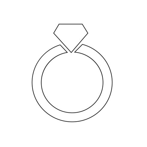 RING-Symbol-Vektor-Illustration