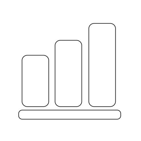 Illustrazione di vettore dell'icona del grafico del pittogramma