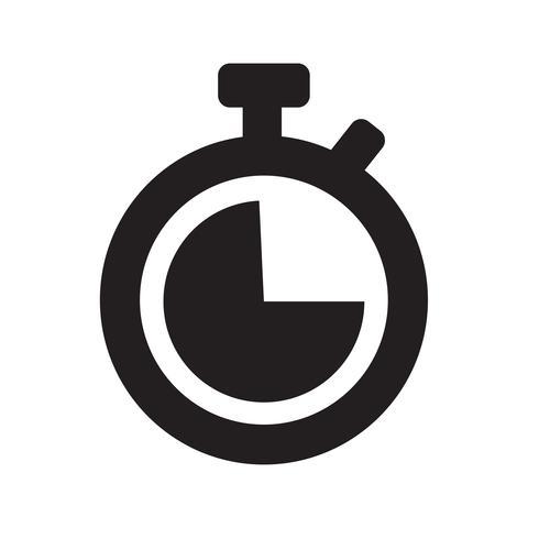 Klok pictogram vectorillustratie