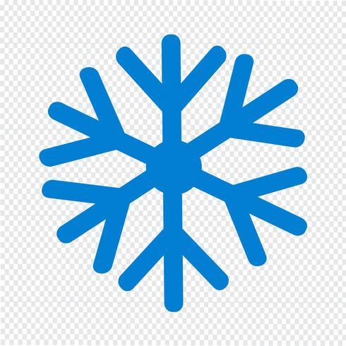 Ilustración de vector de icono de copo de nieve