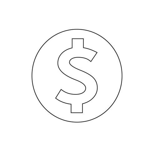 Pengar ikon vektor illustration