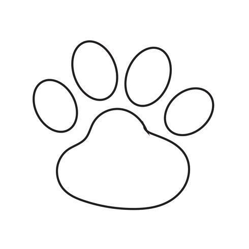 icono de huella animal ilustración vectorial