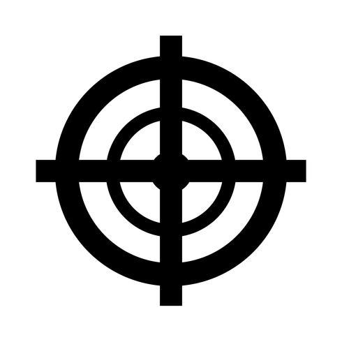 Illustration vectorielle d'icône cible