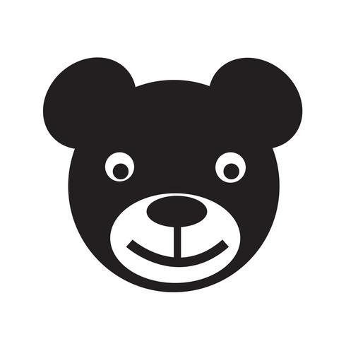 icono de oso ilustración vectorial