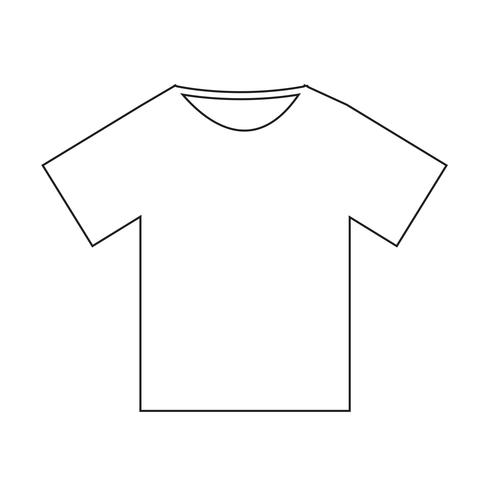 Tshirt icon Vector Illustration