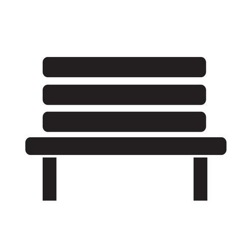 Banc icône illustration vectorielle