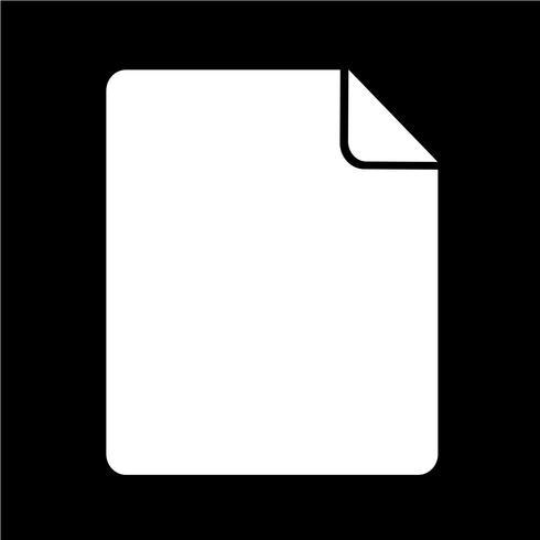 Ilustração em vetor ícone arquivo