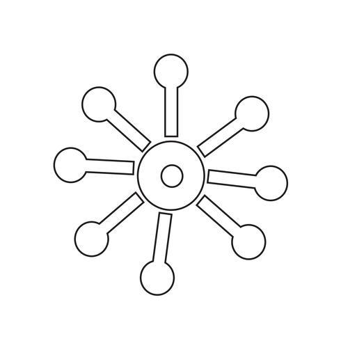 Affärsnätverk ikon vektor illustration