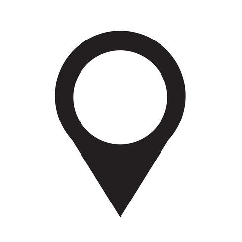 Kaart van aanwijzer pin pictogram vectorillustratie