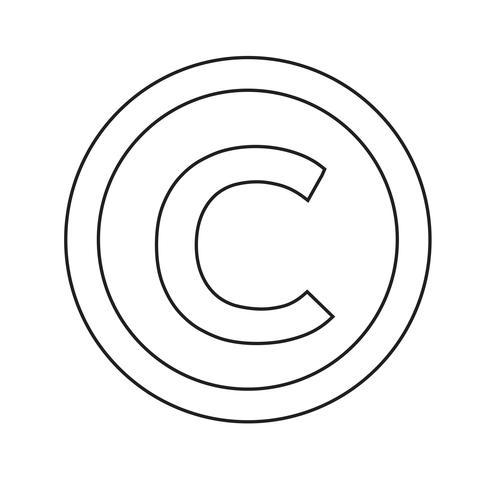 copyright symbol icon vector illustration