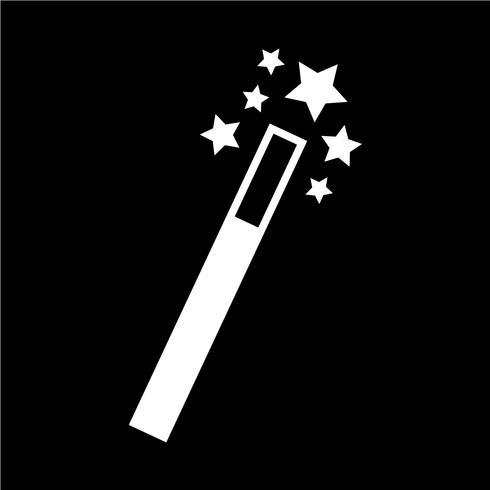 Zauberstab-Symbol-Vektor-Illustration vektor