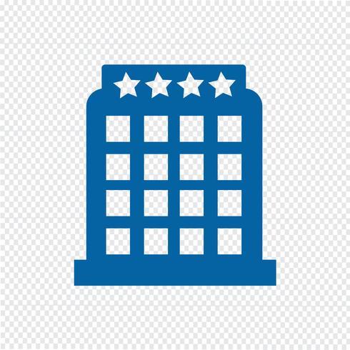 hotell ikon vektor illustration