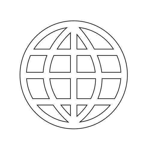 Globe earth icon vector illustration