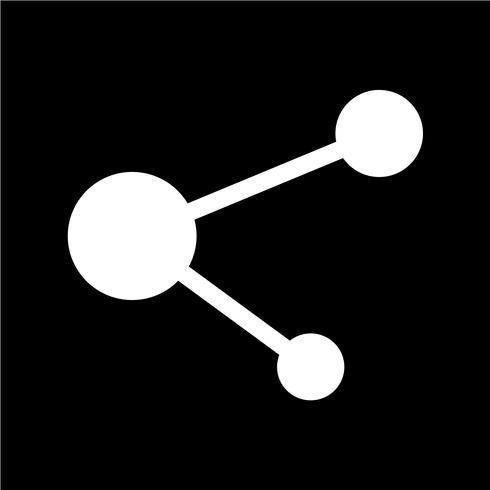Illustration vectorielle de réseau d'affaires icône vecteur