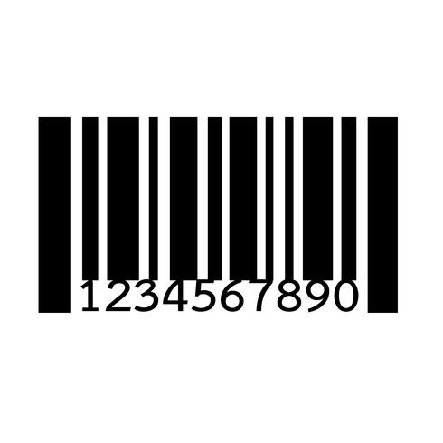 Code à barres icône illustration vectorielle