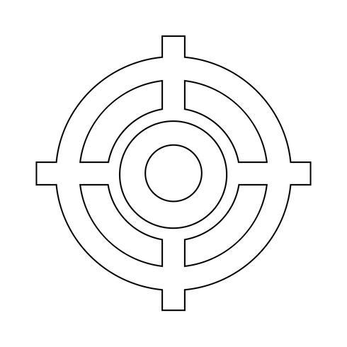 Mål ikon vektor illustration