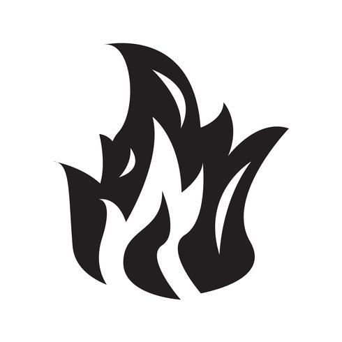 Feu flamme icône illustration vectorielle vecteur