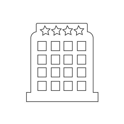 illustration de vecteur icône hôtel