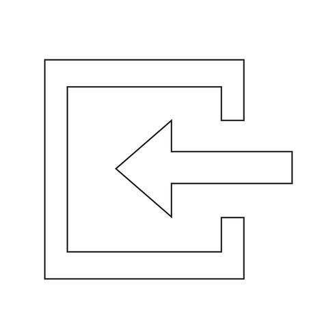 Logga in ikon vektor illustration