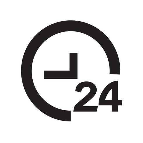 Ilustración de vector de icono de tiempo 24