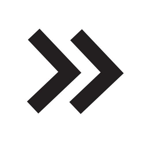 Icône de flèche Illustration vectorielle
