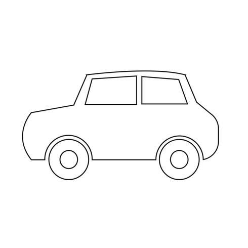 Voiture icône illustration vectorielle vecteur