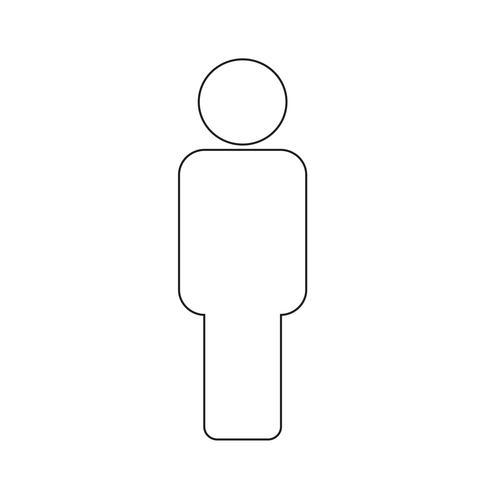 Les gens signent icône illustration vectorielle