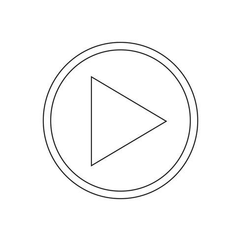 Play icon vector illustration