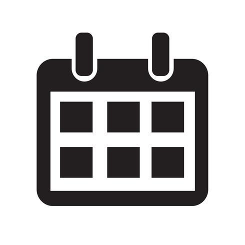 Illustrazione di vettore icona calendario