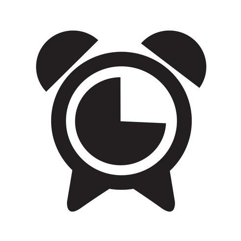wekker pictogram vectorillustratie