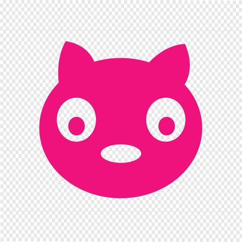 Cat icon Vector Illustration