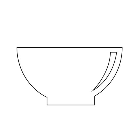 Bowl ikon vektor illustration