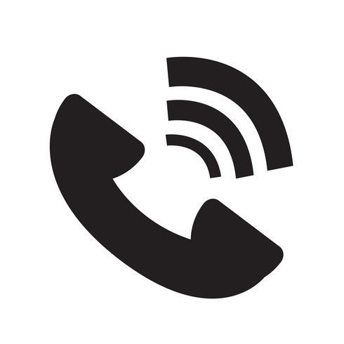 Ilustración de vector de icono de símbolo de teléfono