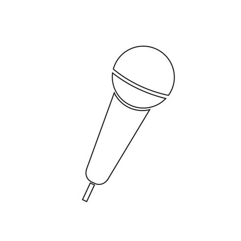 Ilustración de vector de icono de micrófono