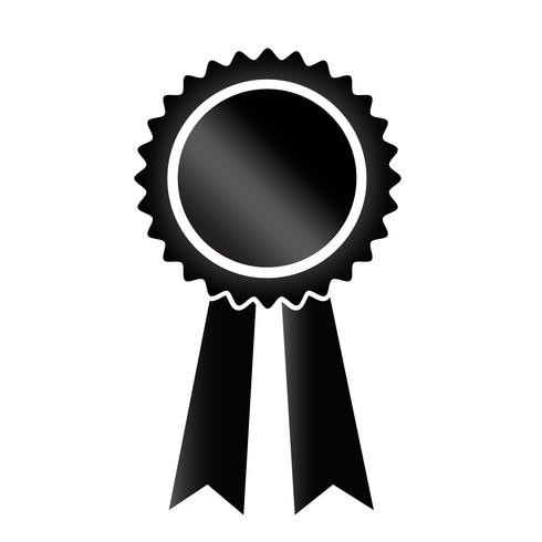 ícone de fita preta ilustração vetorial