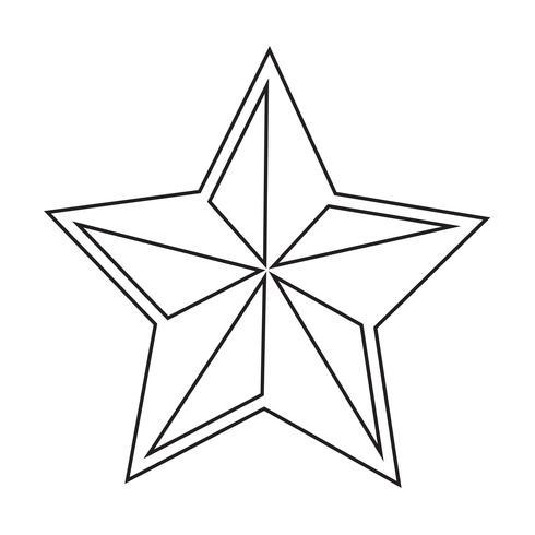 icona stella illustrazione vettoriale