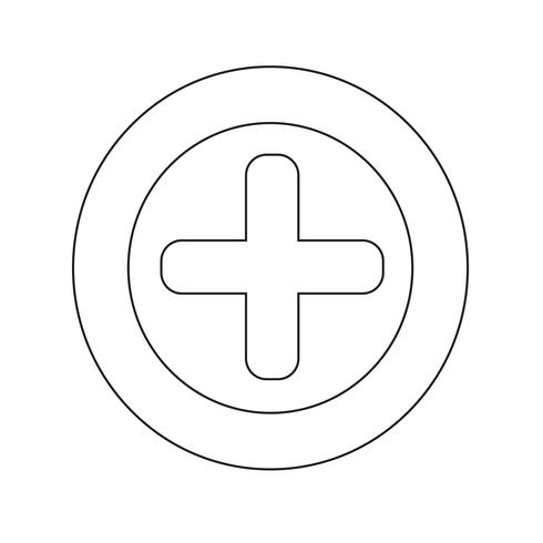 Plus pictogram vectorillustratie
