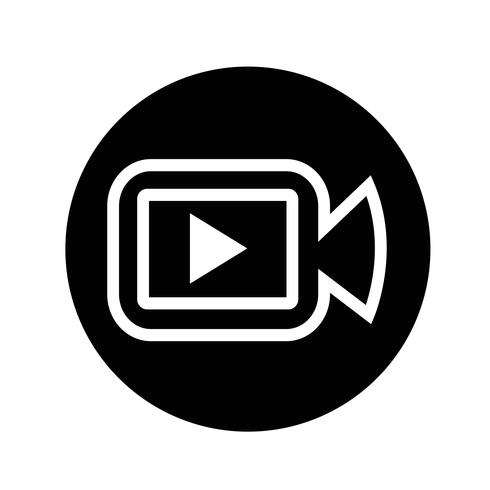 Icona della fotocamera del cinema