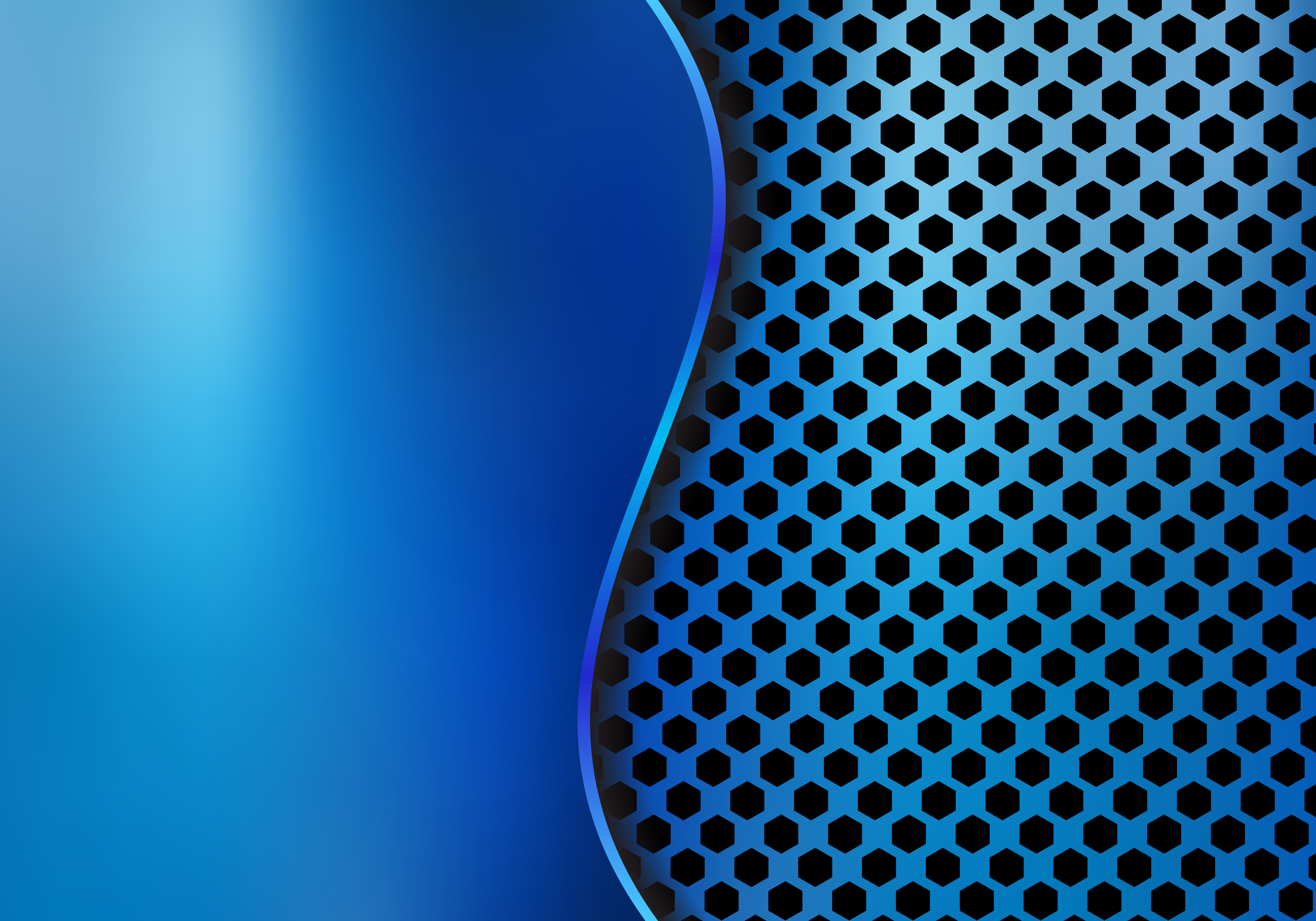 Abstract Blue Metallic Metal Background Made From Hexagon
