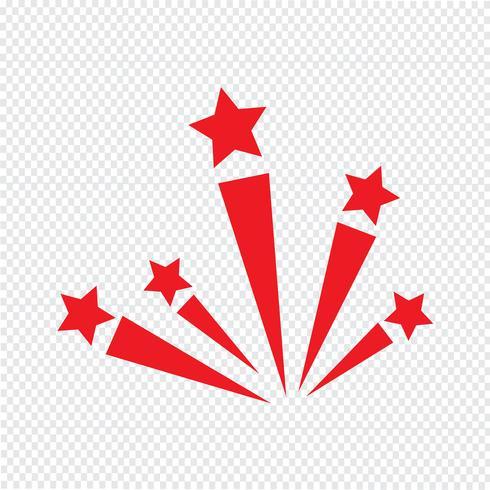 illustrazione di vettore dell'icona di fuoco d'artificio