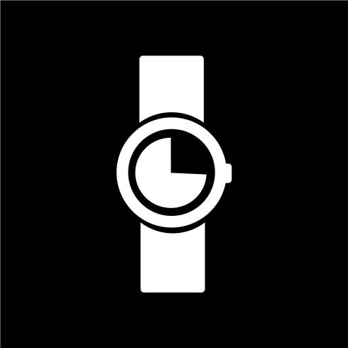 Ilustración de vector icono de reloj