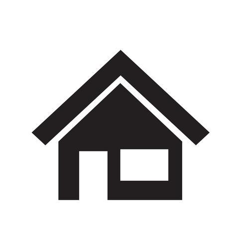 icono de casa ilustración vectorial vector