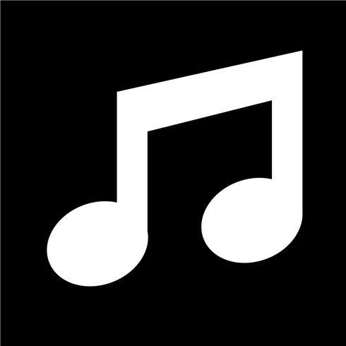 icono de la música ilustración vectorial