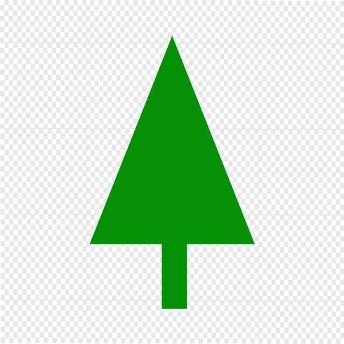 Julgran ikon vektor illustration