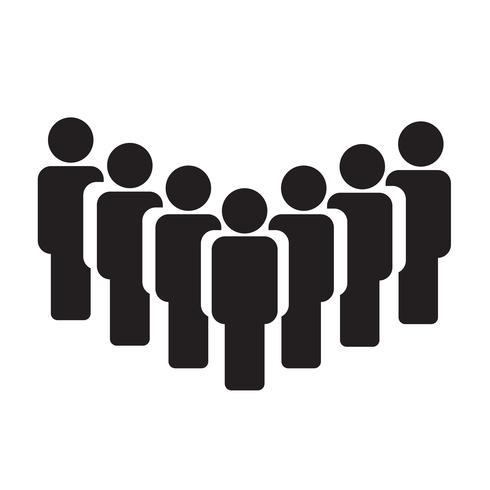 La gente firma l'illustrazione di vettore dell'icona