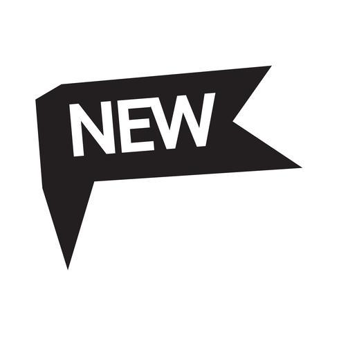 Nuevo icono de ilustración vectorial