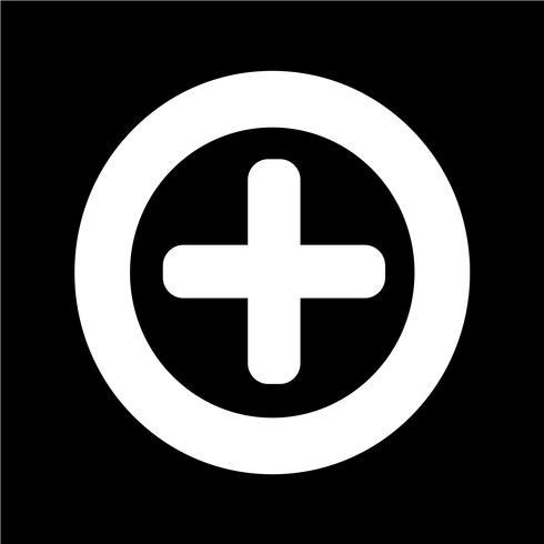 Plus-Symbol Vektor-Illustration